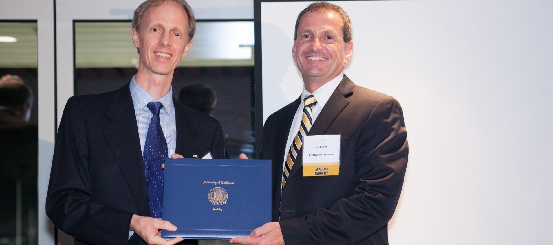 ENGEO President Uri Eliahu Is Inducted To Academy Of Distinguished Alumni At University Of California, Berkeley, Civil And Environmental Engineering Department
