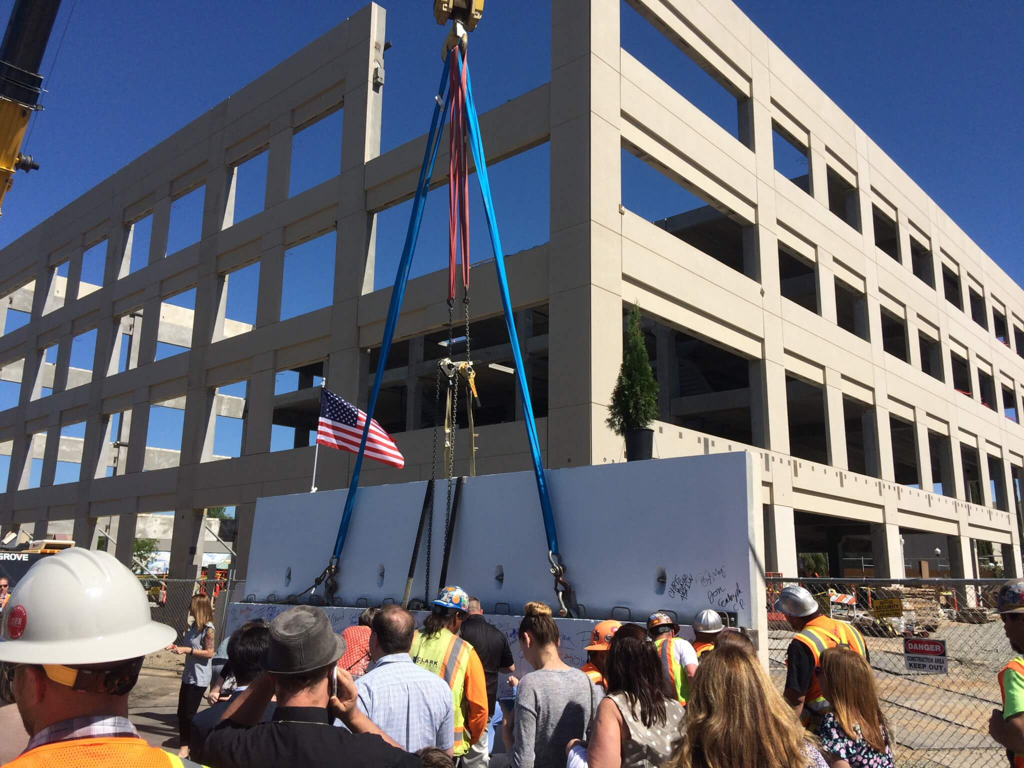 "Autographs Commemorate The 316 Vernon Street Building ""Topping Off Ceremony"""